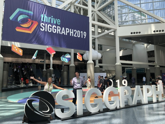 Charlie and Jeremy SIGGRAPH Sign