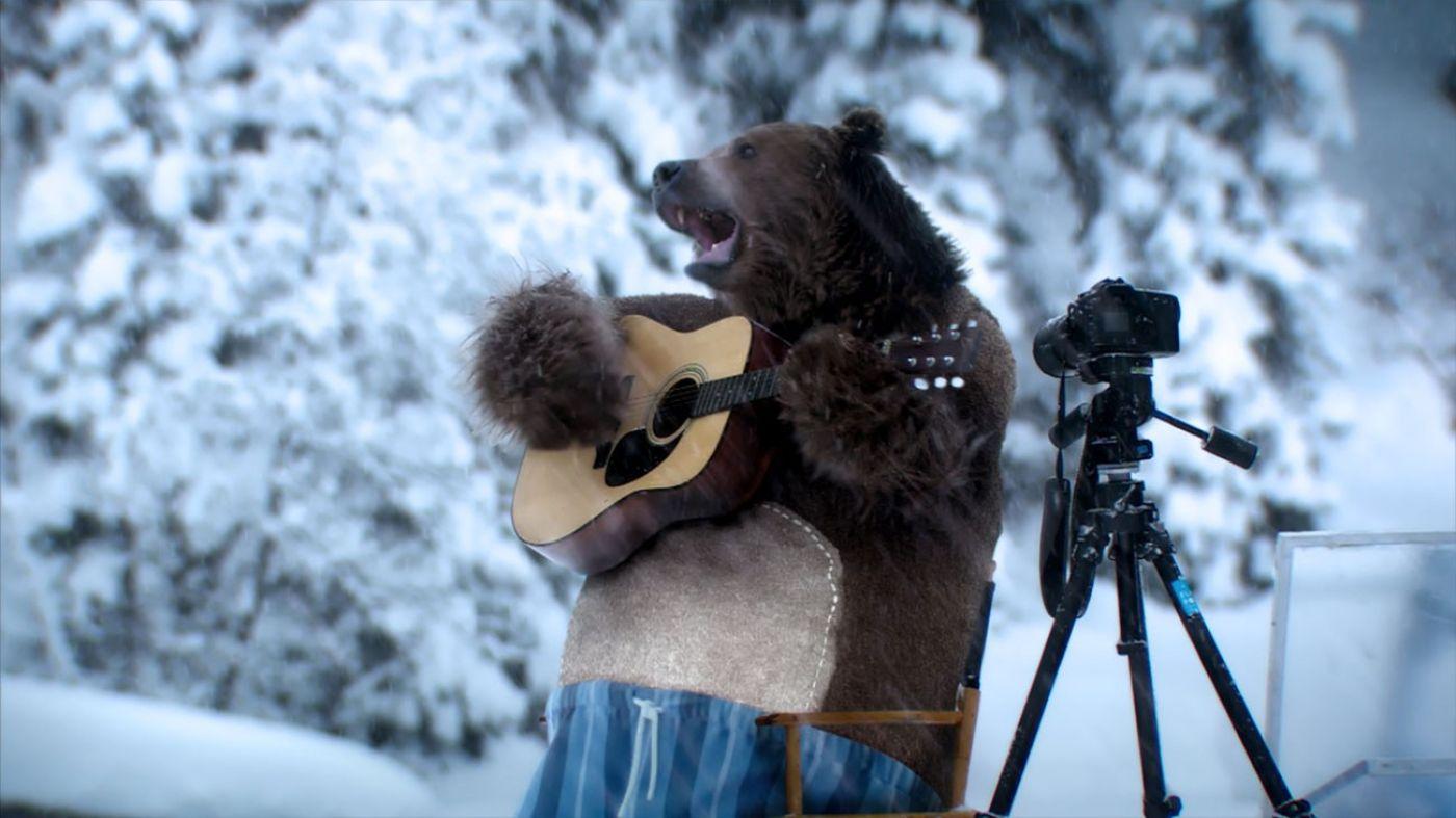 Днем, гифка про медведя и стиральную машину